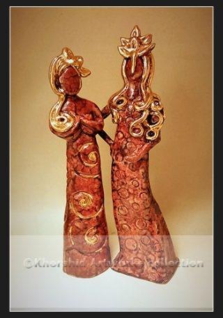 Persian ceramic sculpture
